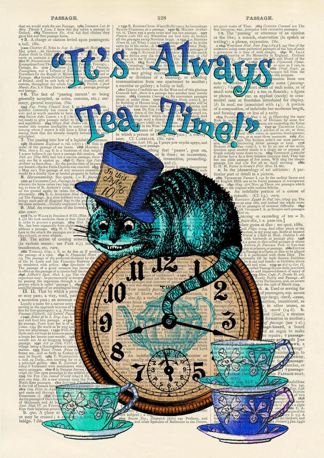 Details about Set of 4 Alice in Wonderland Antique Book ...