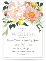 Spring Blooms Customizable Wedding Invitation Petite Cards In