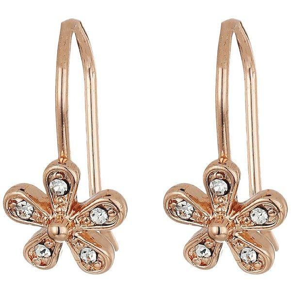 LAUREN Ralph Lauren Small Flower Drop Earrings CrystalRose Gold