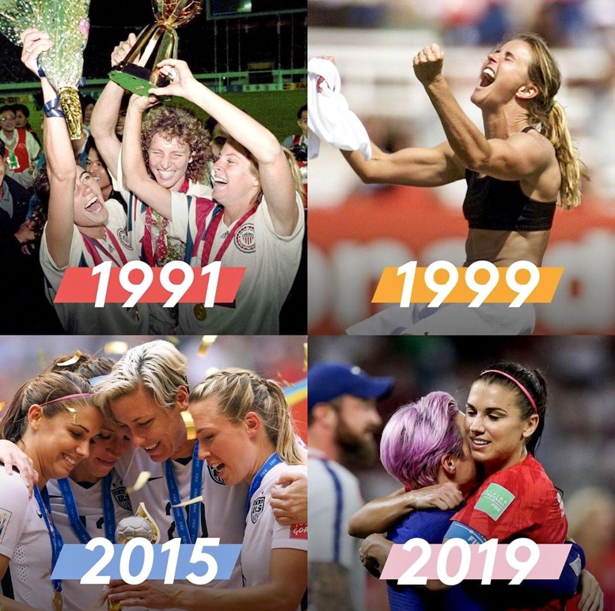 Uswnt S 1991 1999 2015 2019 World Cup Wins Uswnt Sports Wallpapers Usa Soccer Women