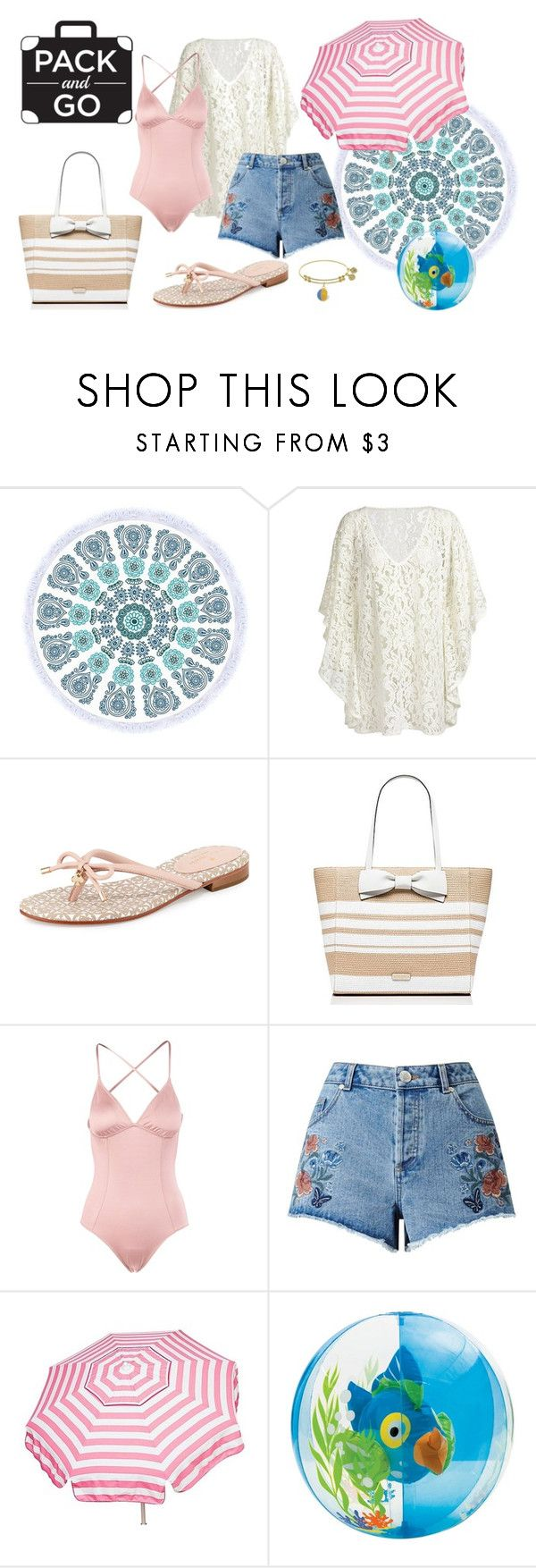 """""""Beach Day"""" by mixed-fa-shion ❤ liked on Polyvore featuring Kate Spade, Eberjey, Miss Selfridge and Parasol"""