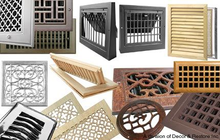 Heat Registers In Wood Brass Nickel Black Fireplace Remodel