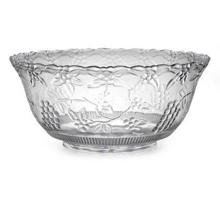 Clear 8 Qt Punch Plastic Bowl 6 Plastic Bowls Weddings Table