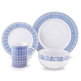 Studio 16-piece Dinnerware by Living Art  sc 1 st  Pinterest & Studio 16-piece Dinnerware by Living Art | Baby Blue-The Color Wheel ...