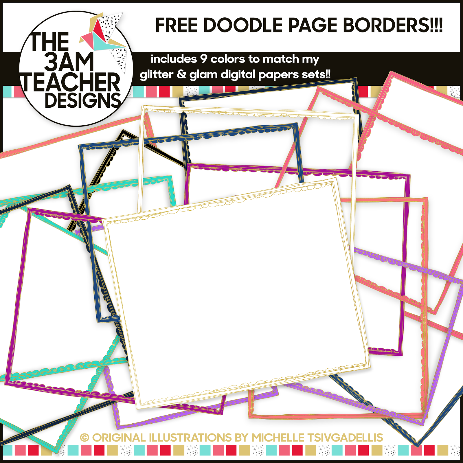 Free Doodle Page Borders