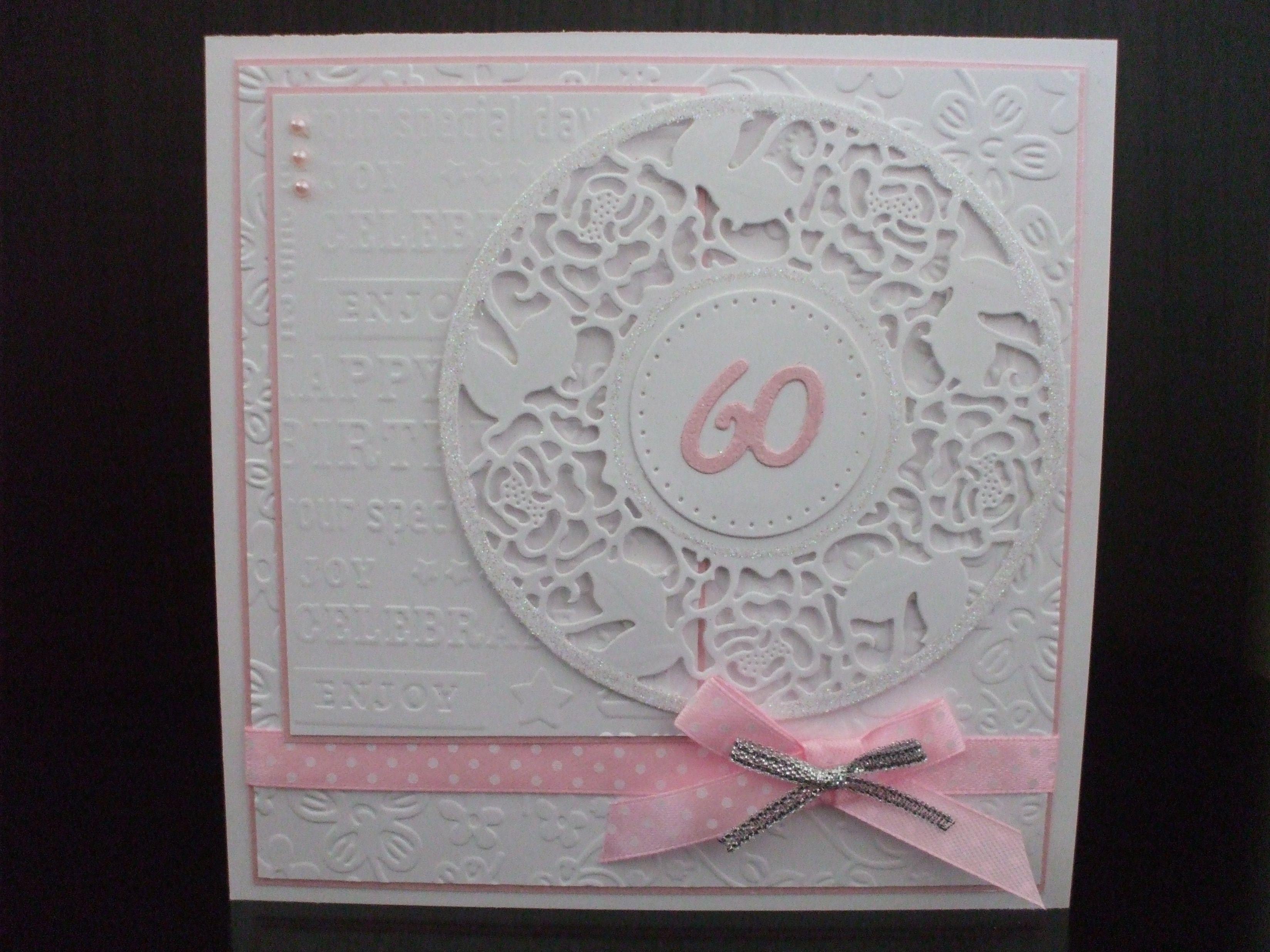 Handmade 60th Birthday Card Female 60th Birthday Cards Special Birthday Cards Birthday Cards