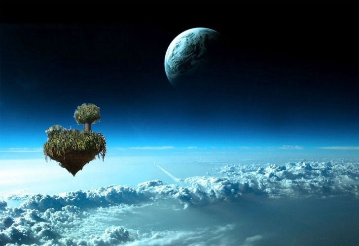 Vegetated Floating Island In The Sky Goes Missing From Uk Music Festival Earth From Space Planets Wallpaper Another Earth