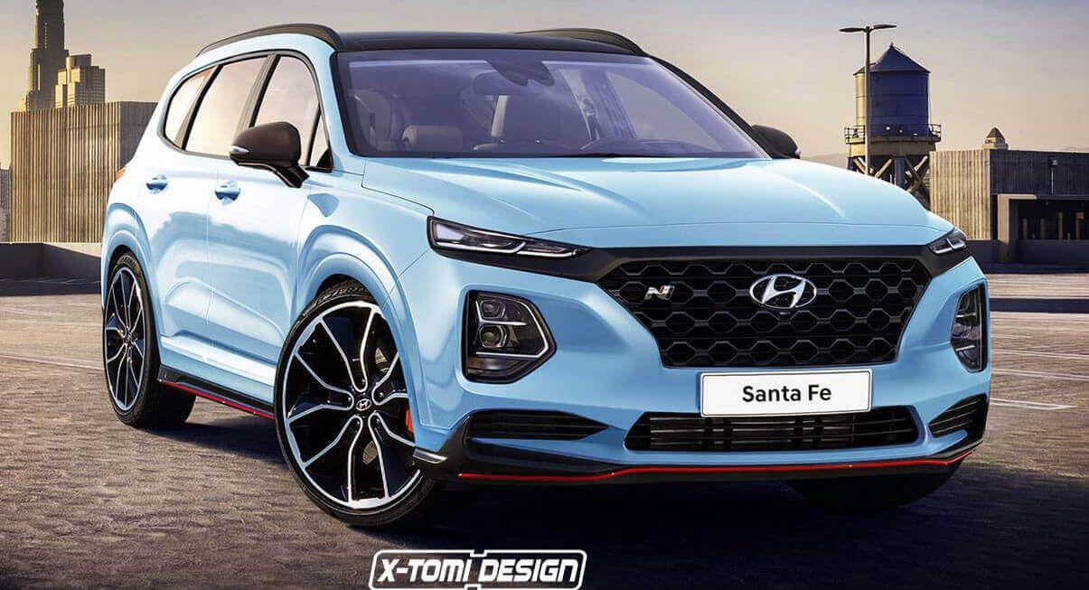 New Hyundai Santa Fe Would Make For An Interesting N Performance Model Carscoops Hyundai Cars New Hyundai Santa Fe New Hyundai