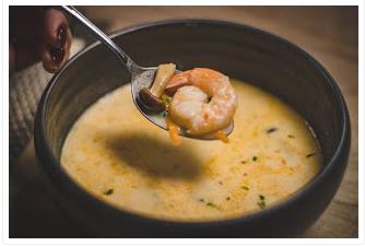 طريقة عمل الروبيان بكريم الزبد In 2020 Cooking Easy Cooking Healthy Soup Recipes