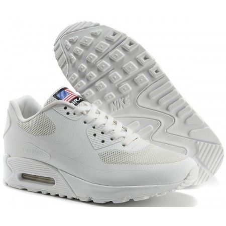 finest selection da88d 2d39c Chaussures Sport Nike Air Max 90 Independence Day Blanc Vintage Pas Cher