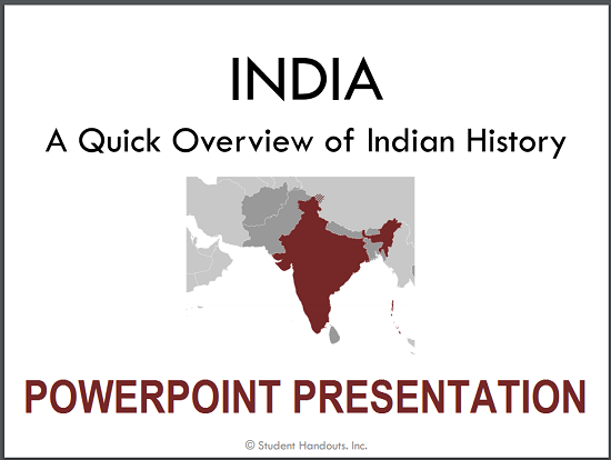 history of india powerpoint ppt pptx pdf free to print or download