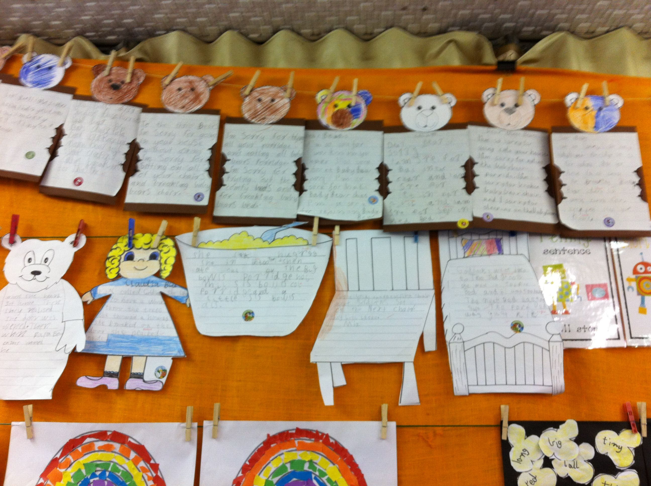 Goldilocks And The Three Bears Writing Activities Retell And Sorry Letter