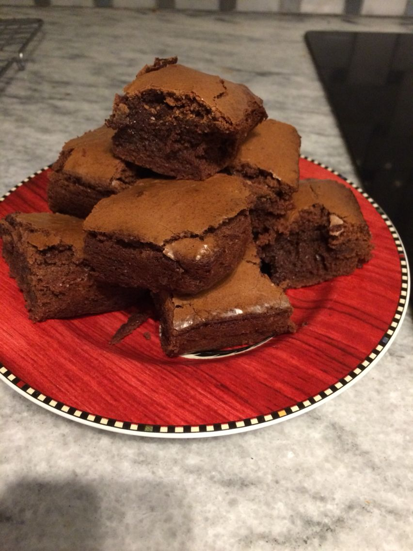 Cook's illustrated fudgy brownies for two. FANTASTIC brownies and the recipe makes the perfect amount!