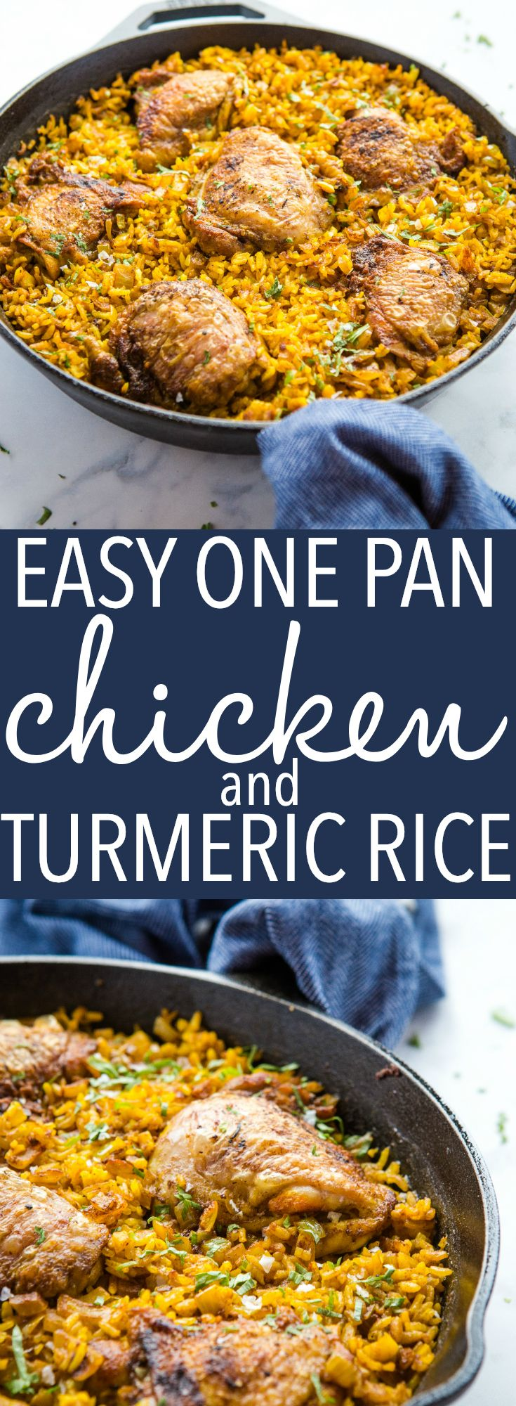 Easy One Pan Chicken with Turmeric Rice - The Busy Baker