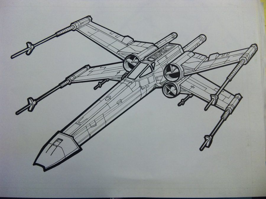X Wing Fighters Images Coloring Pages Wing Lineart By Yumezaka