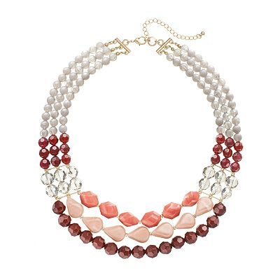 Apt. 9® Bead Multirow Necklace