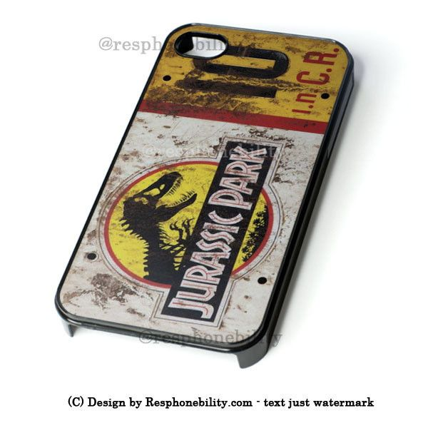 Jurassic Park Jeep License Plate 10 iPhone 4 4S 5 5S 5C 6 6 Plus , iPo – Resphonebility
