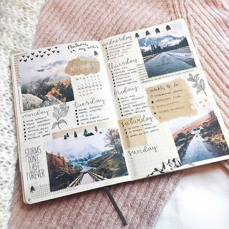 journals bullet journal scrapbook aesthetic travel inspiration journaling diary spread pages notebook instagram minimalist altered collages caught eye layout visit