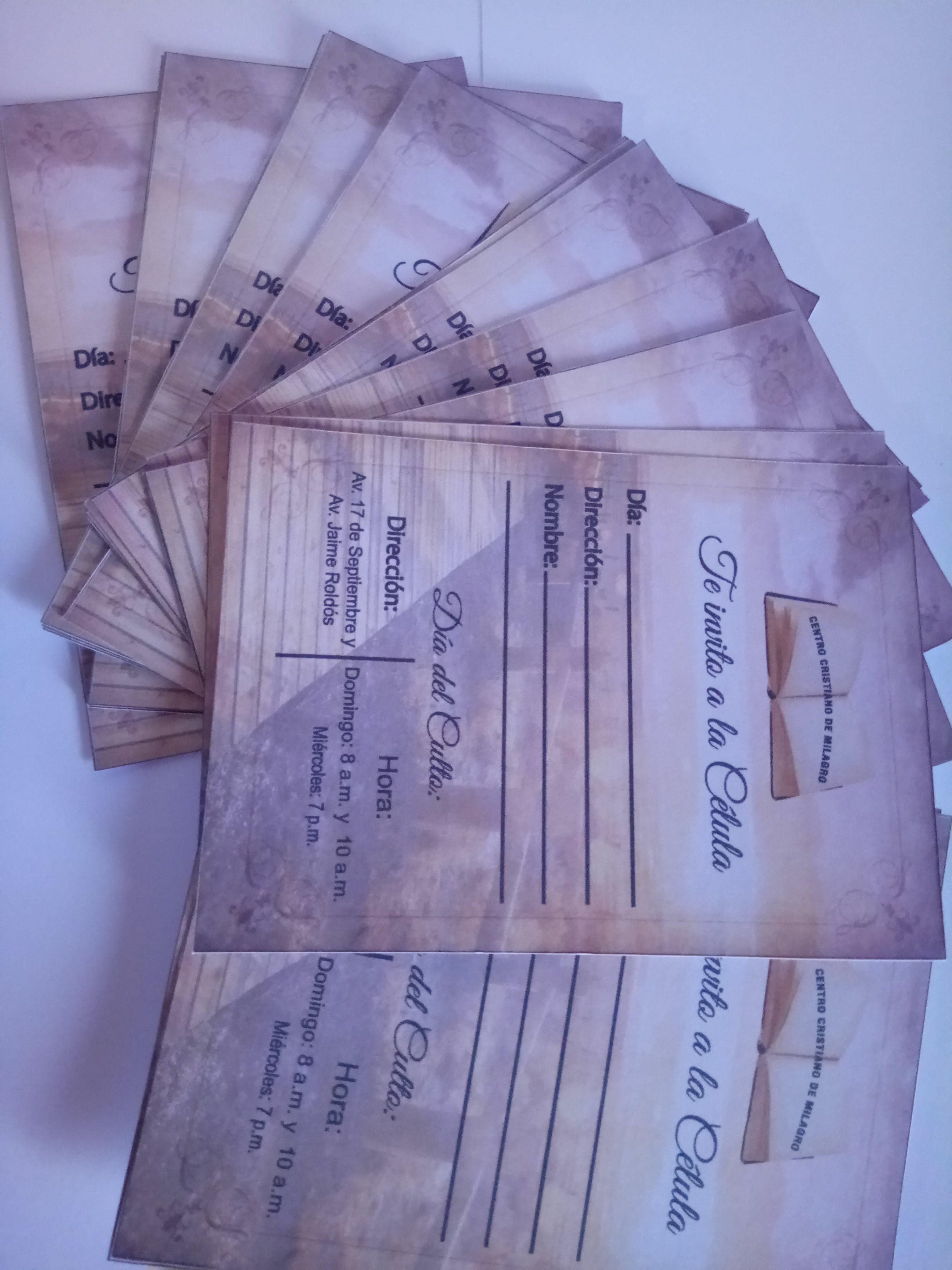 Tarjeta De Invitacion Para Celula