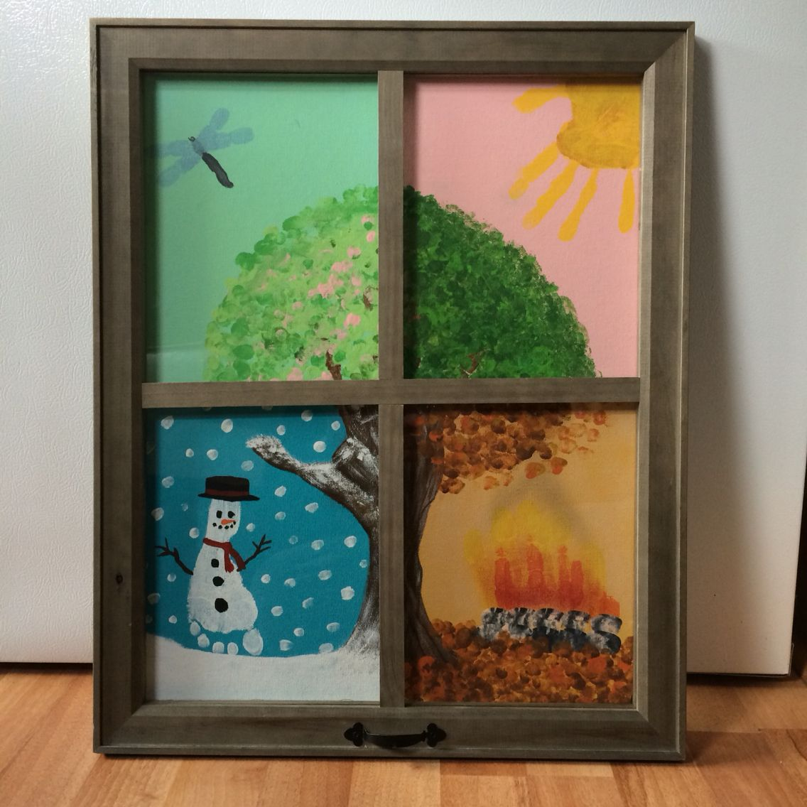 family tree finger painting mothers day gift walmart picture frame 4 8x10 canvases