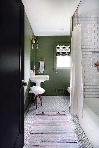 Unexpected Palette Green Bathroom Dark Green Bathrooms Green Bathroom Paint