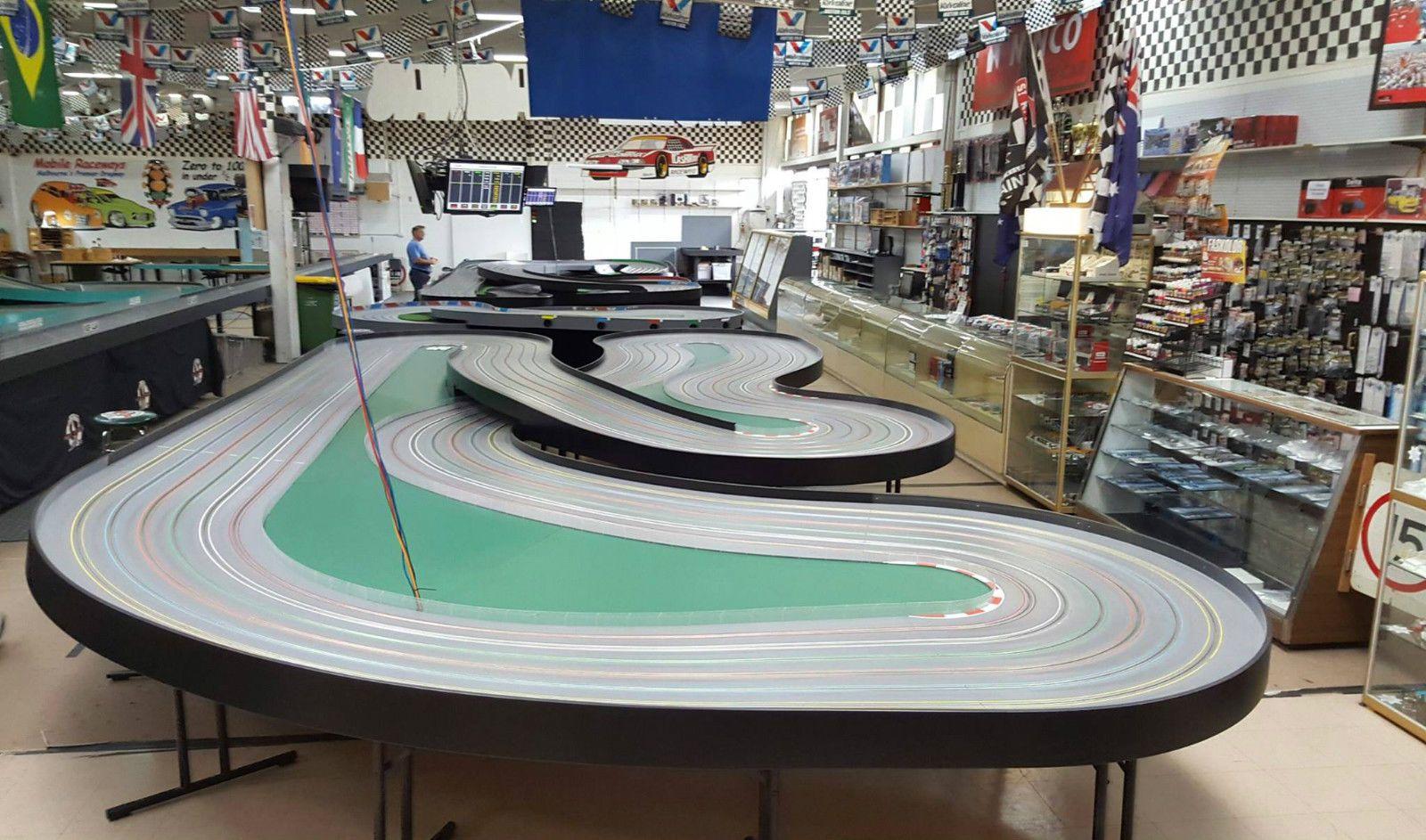 6 Lane Wooden Routed Slot Car Track eBay Slot car