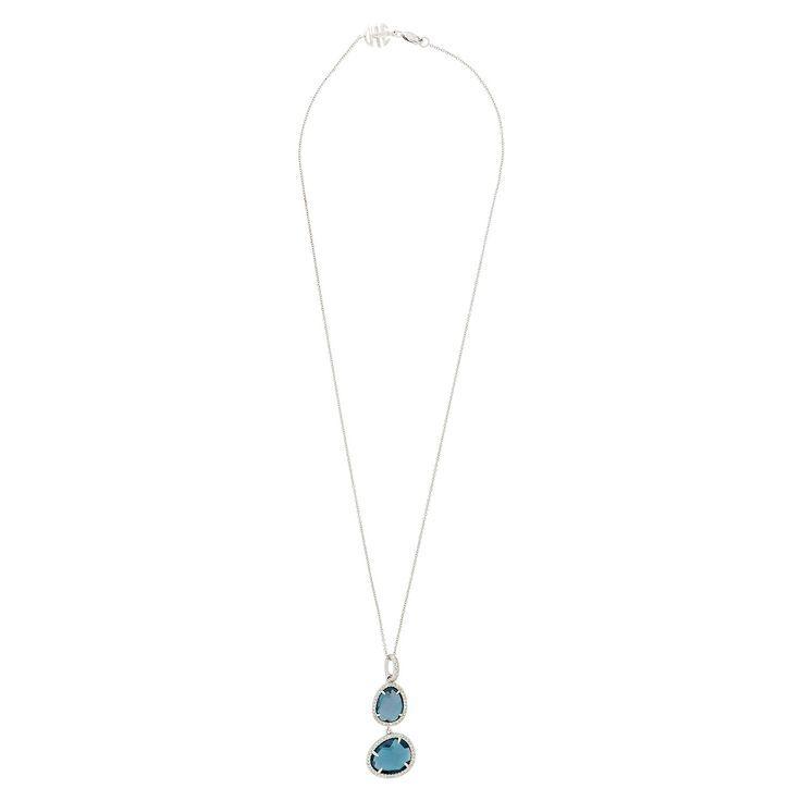 9ct White Gold 0.50ct Aquamarine Classic Pear Pendant on Chain