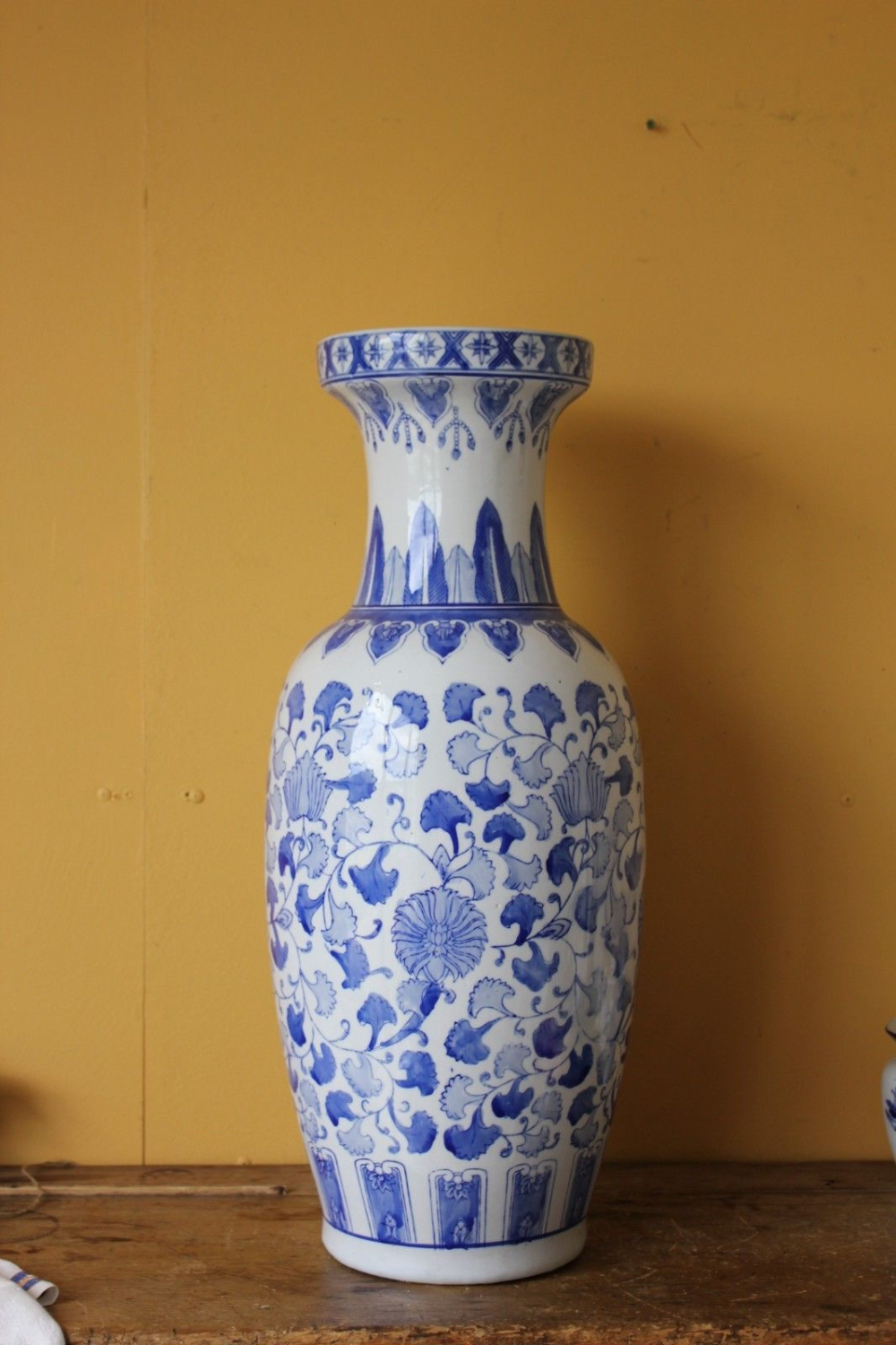 Details About Large Oriental Chinese Vase Blue White 64 5cm