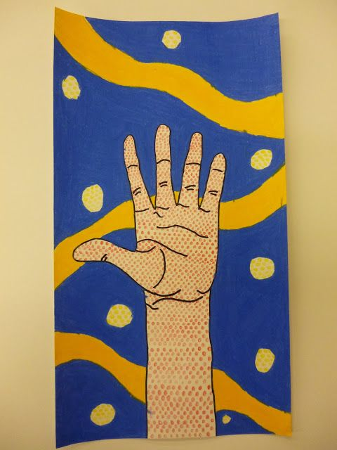 could use as template for printmaking benday dots lichtenstein