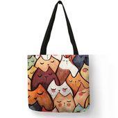 Cute Kawaii Cartoon Anime Cat Print Linen Tote Bag Cute Kawaii Cartoon Anime Cat Print Linen Tote Bag This image has get 0 repins Author Lady fashion