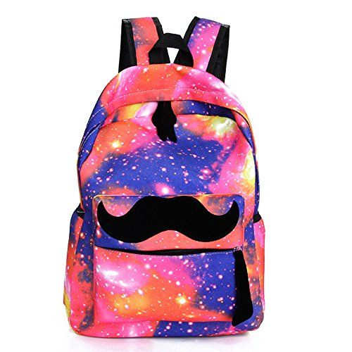 New Cool Fancy Red Colorful Starry Sky Stars Mustache Laptop Book ...