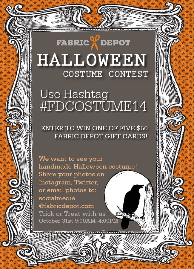"""""""Halloween Costume Contest with Fabric Depot"""""""