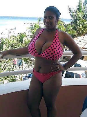 Slim busty ebony