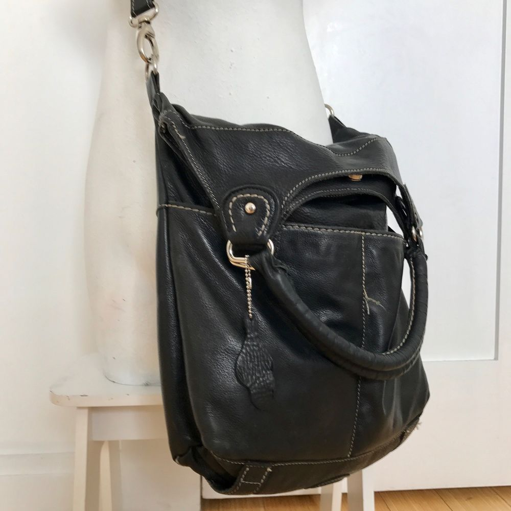 1d8dec38f33 Roots Canada Lauren Satchel Cross Body Genuine Leather Purse Bag ...
