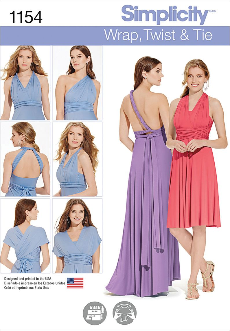 12f0f37a5ec Simplicity Pattern 1154A Xxs - Xs - S - M - Special Occasion