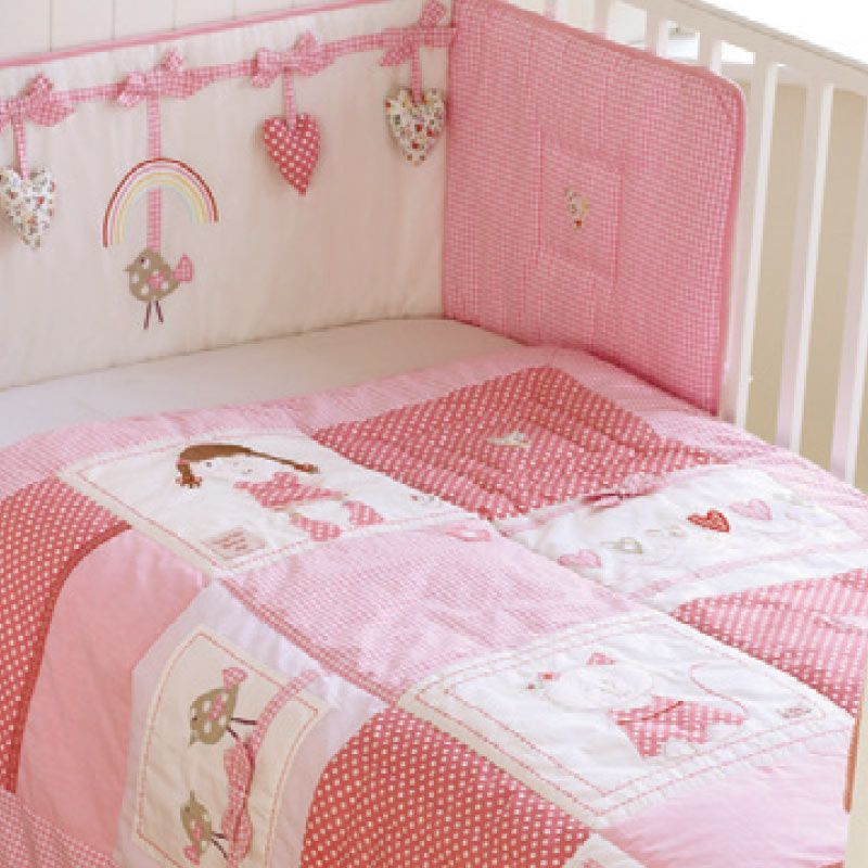 Rainbow Daisy Cot Bed Quilt And Bumper Set Don T Tell