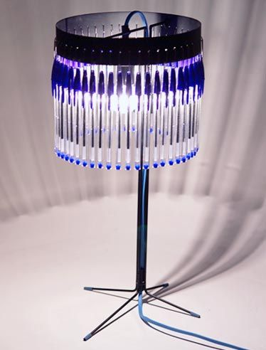 Reinvent Competition Recycled Pens Diy Lamp Shade Diy Lamp