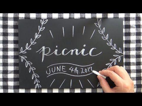 おしゃれピクニック(#おしゃピク)に欠かせない黒板
