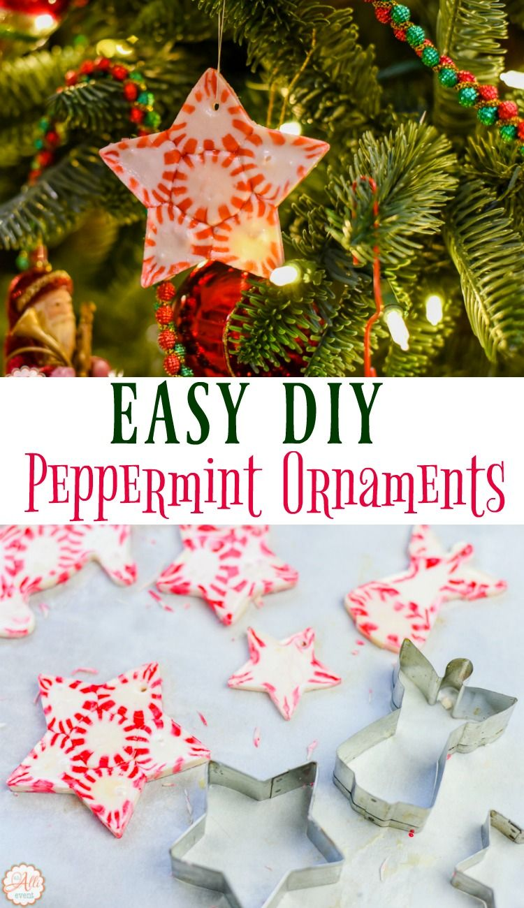 How To Make Peppermint Candy Ornaments Peppermint Ideas