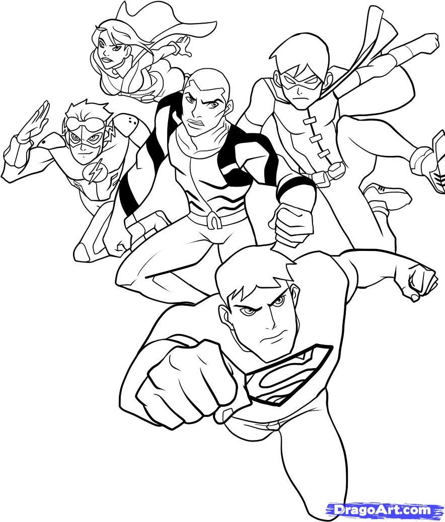 How To Draw Young Justice Step 11 1 000000049097 5 884x1038
