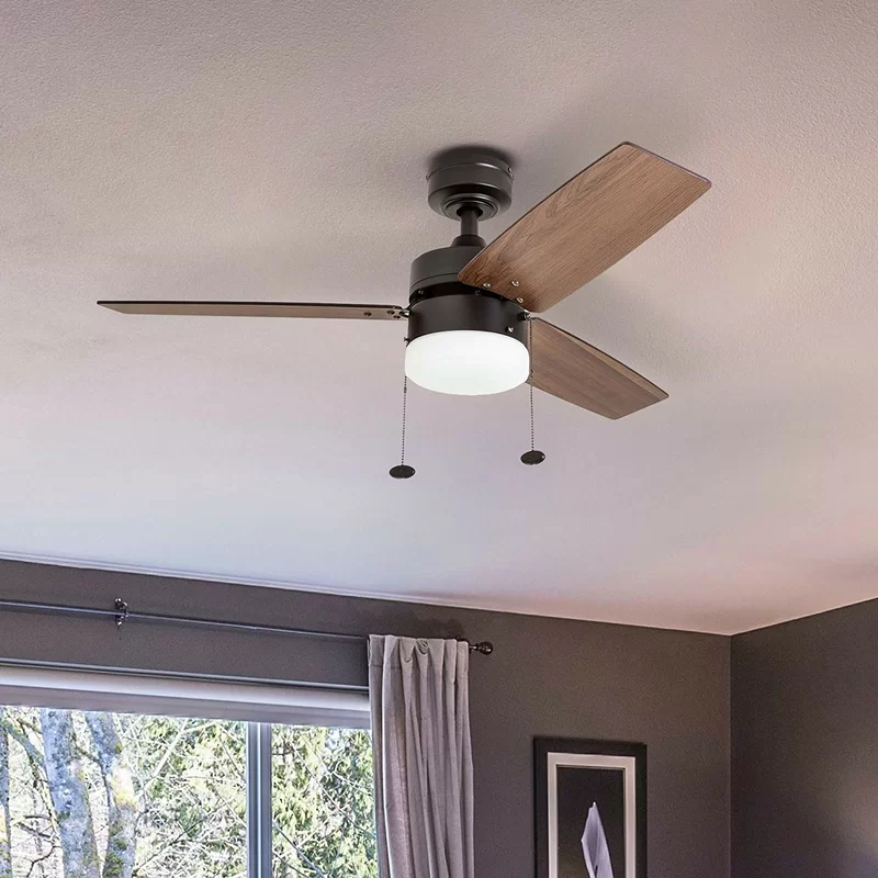 42 Chanice 3 Blade Propeller Ceiling Fan With Pull Chain And Light Kit Included In 2020 Ceiling Fan Contemporary Ceiling Fans Ceiling Fan Light Kit