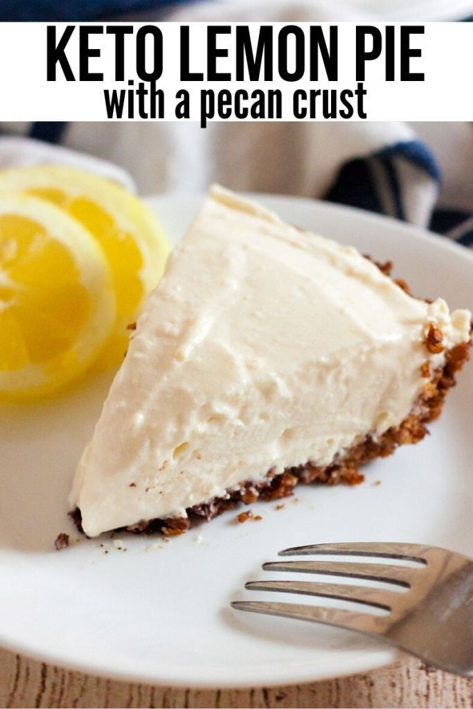 Keto/Low Carb Lemon Pie