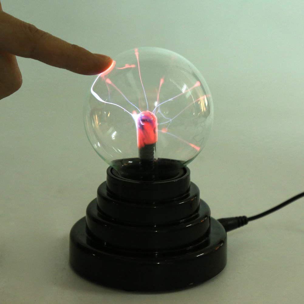 Fdit Creative Ball Light Plasma Ball Lamp Light Touch Sensitive Nebula Sphere Globe Novelty Toy Usb Or Battery Powered Party Gift Desk Lamp Bedroom Office Decor Ball Lamps Ball Lights Usb