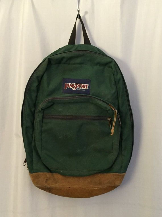 Jansport Green Vintage BagMochilas Backpack Suede Bottom 8kNnOPXZ0w
