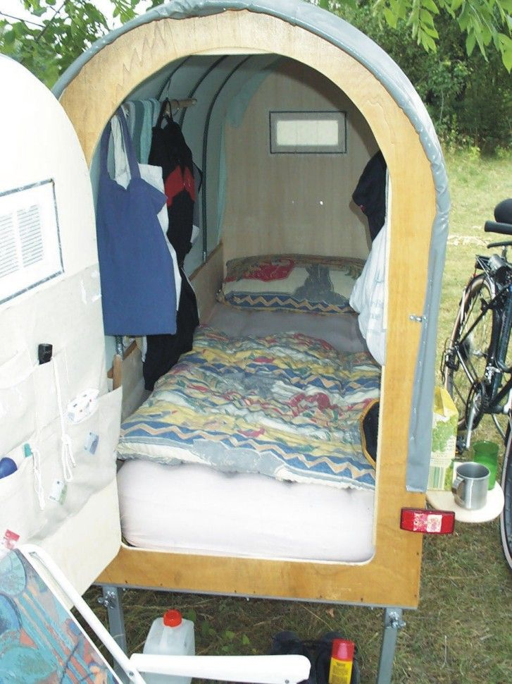 diy bicycle caravan built by g nther lorenz bicycle home. Black Bedroom Furniture Sets. Home Design Ideas