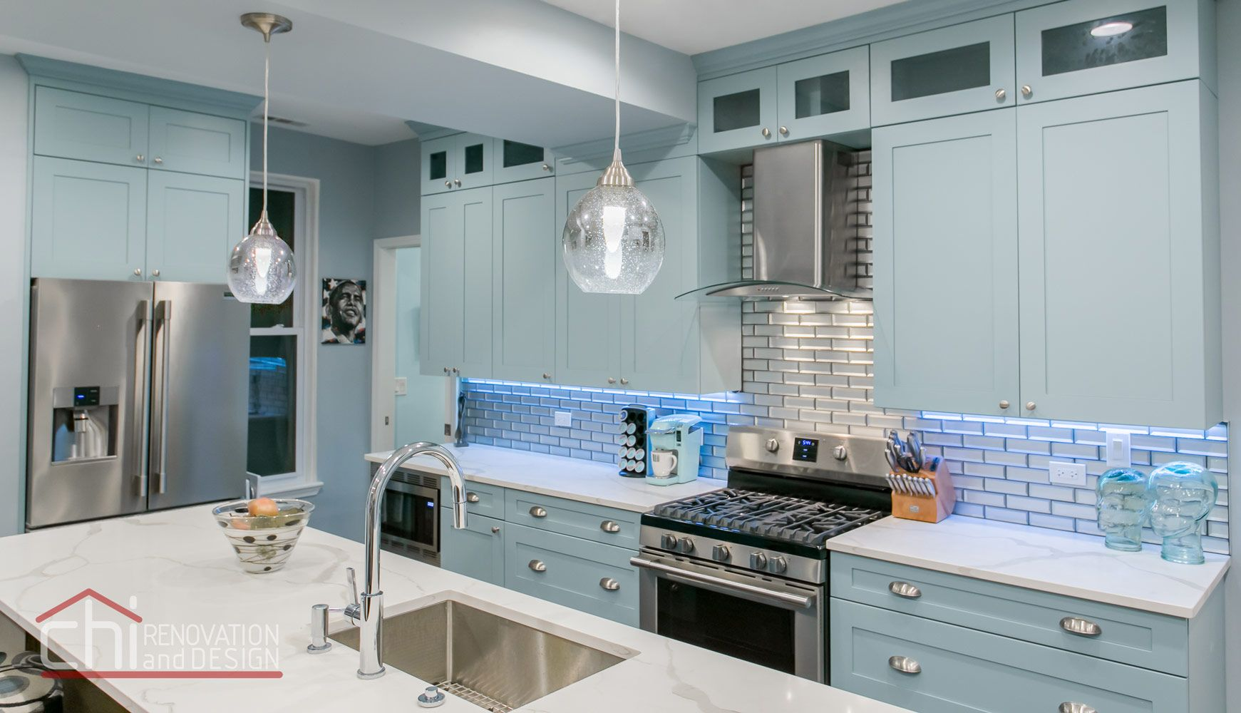 A recent #Chicago #remodel featuring a brand new kitchen design ...