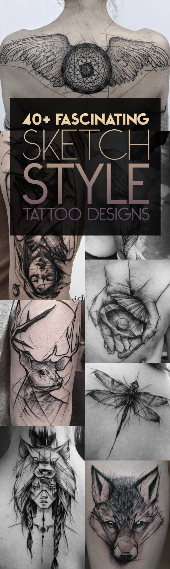 40 Fascinating Sketch Style Tattoos | TattooBlend