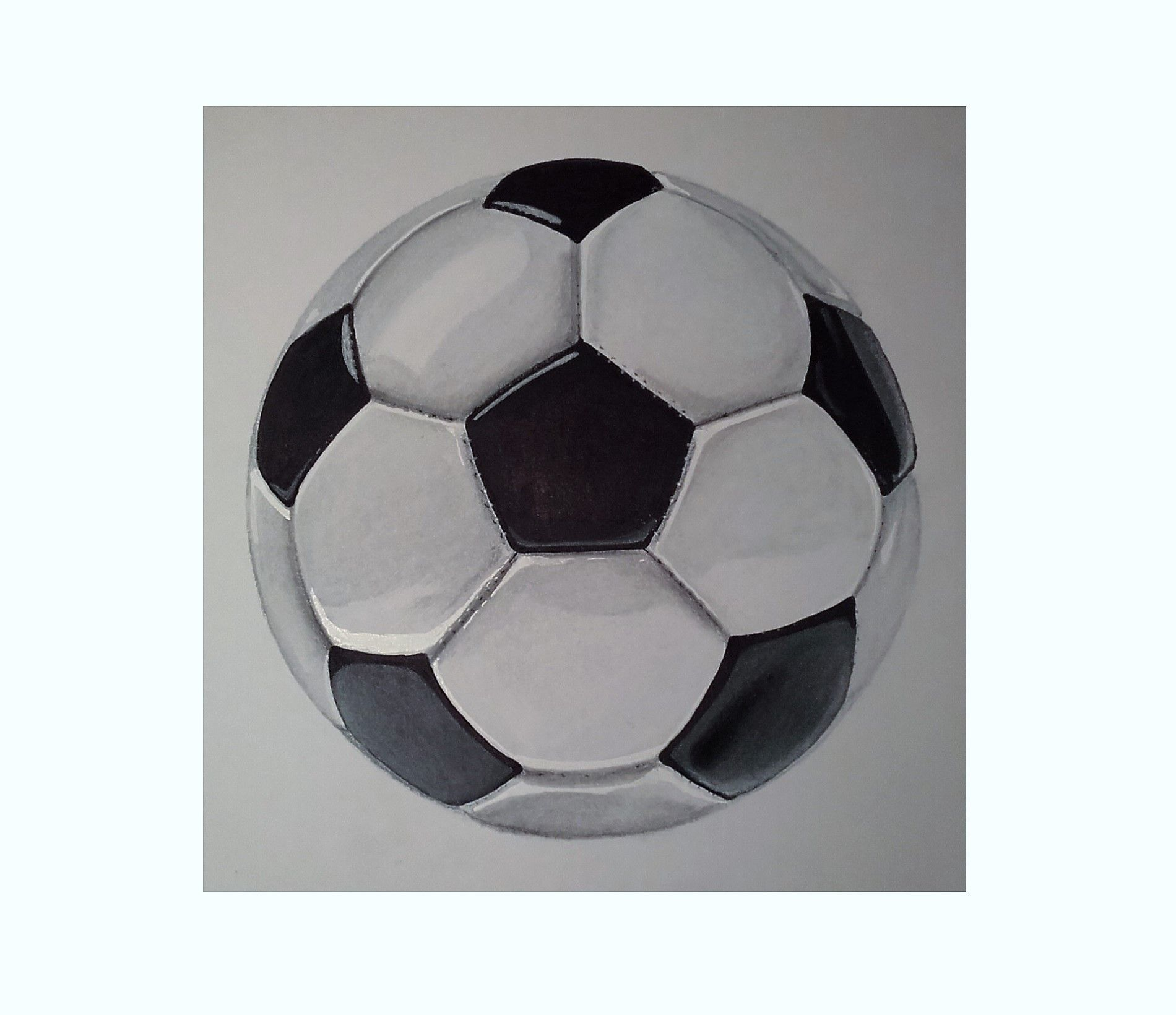 Dessin D Un Ballon Promarker Et Pastel Sec Dessin Promarker