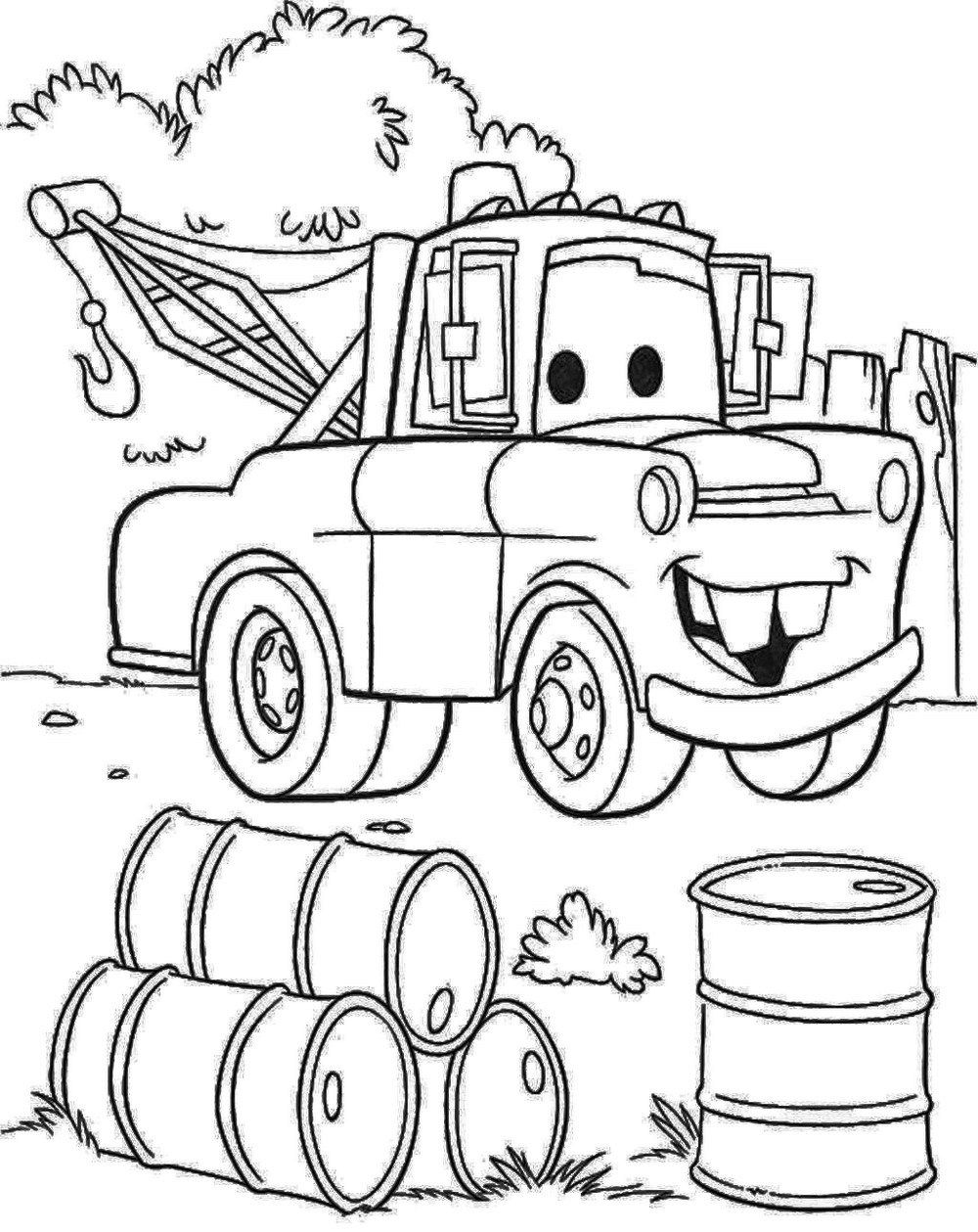 Mater Car Disney Pixar Cars Coloring Pages Truck Coloring Pages