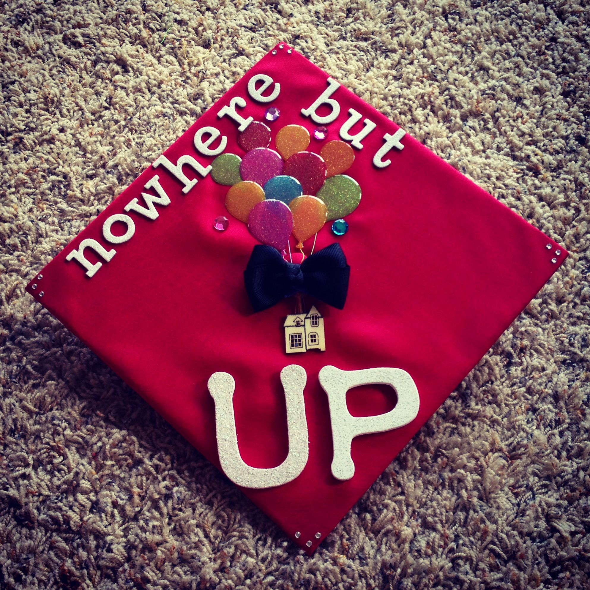 UP is a popular reference for decorated graduation caps ...